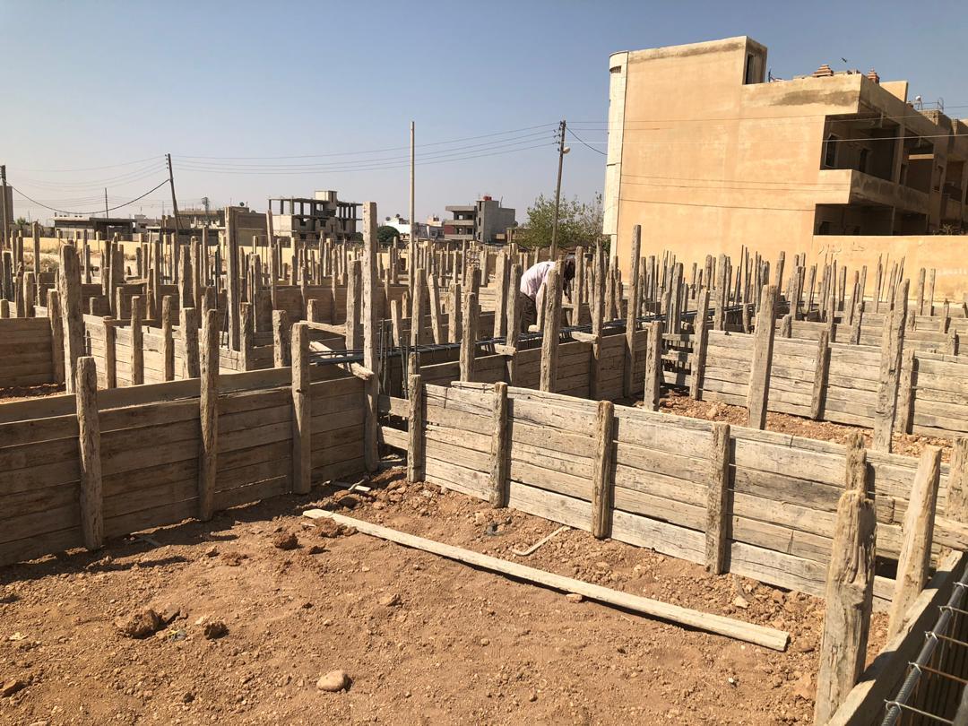 Baufortschritt in Qamislo